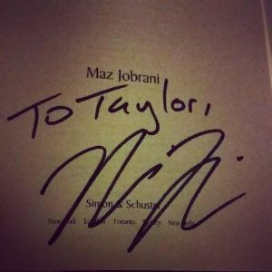 He signed my book :)