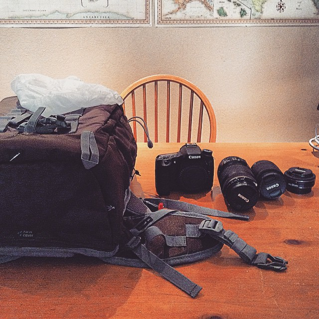 My new backpack, lenses, and camera! What an amazing early graduation present from my grandparents!