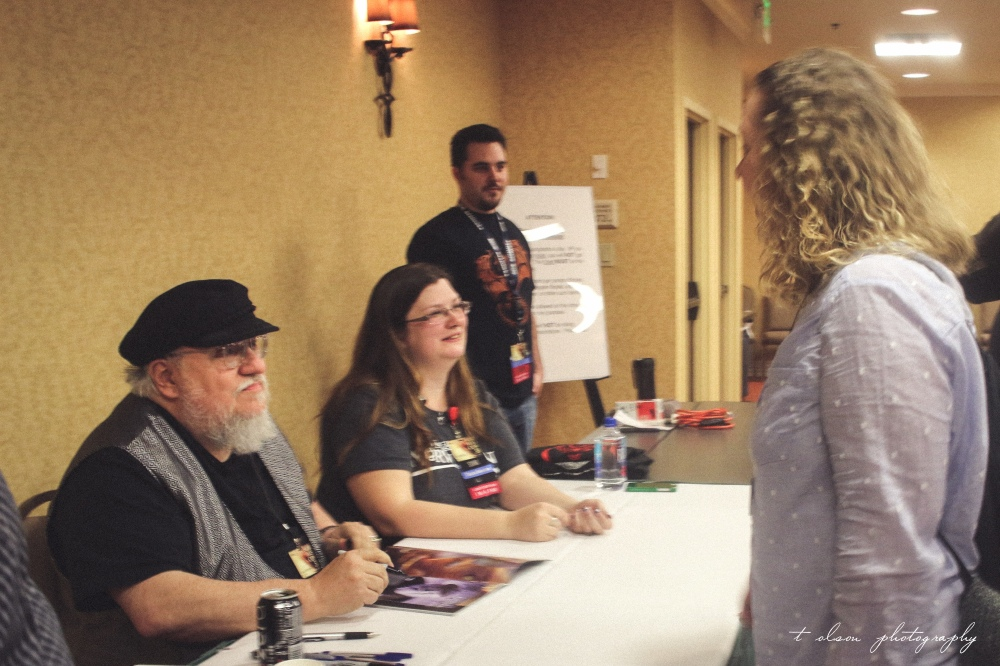 My mom meeting George R. R. Martin